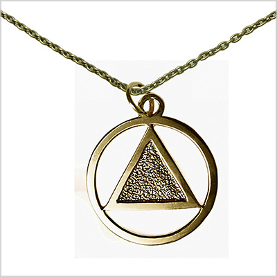 12 step gold alcoholics anonymous jewelry