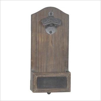 Mounted Bottle Opener - Wood
