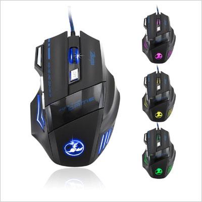 Zelotes 5500 DPI 7 Button Optical Mouse Pro Gamer