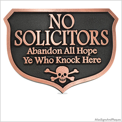 atlas signs and plaques no solicitors