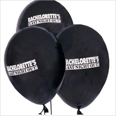 Bachelorette Black Balloons