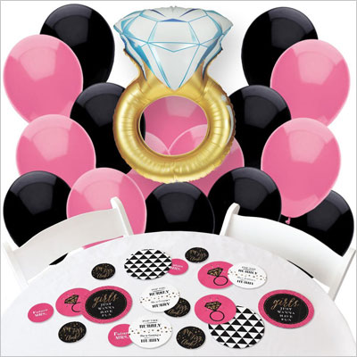 Confetti and Balloon Bachelorette Party Decorations
