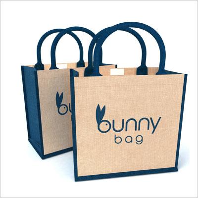 Jute Tote Bags Bunny Bag
