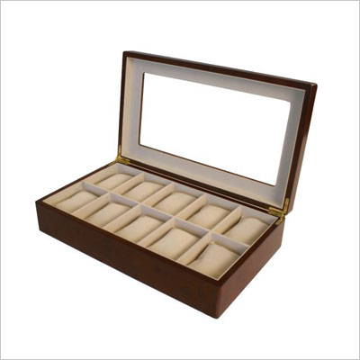 Watch Box for 10 Watches Cherry Matte