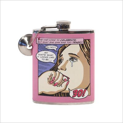 Women's 30th Birthday Milestone Flask