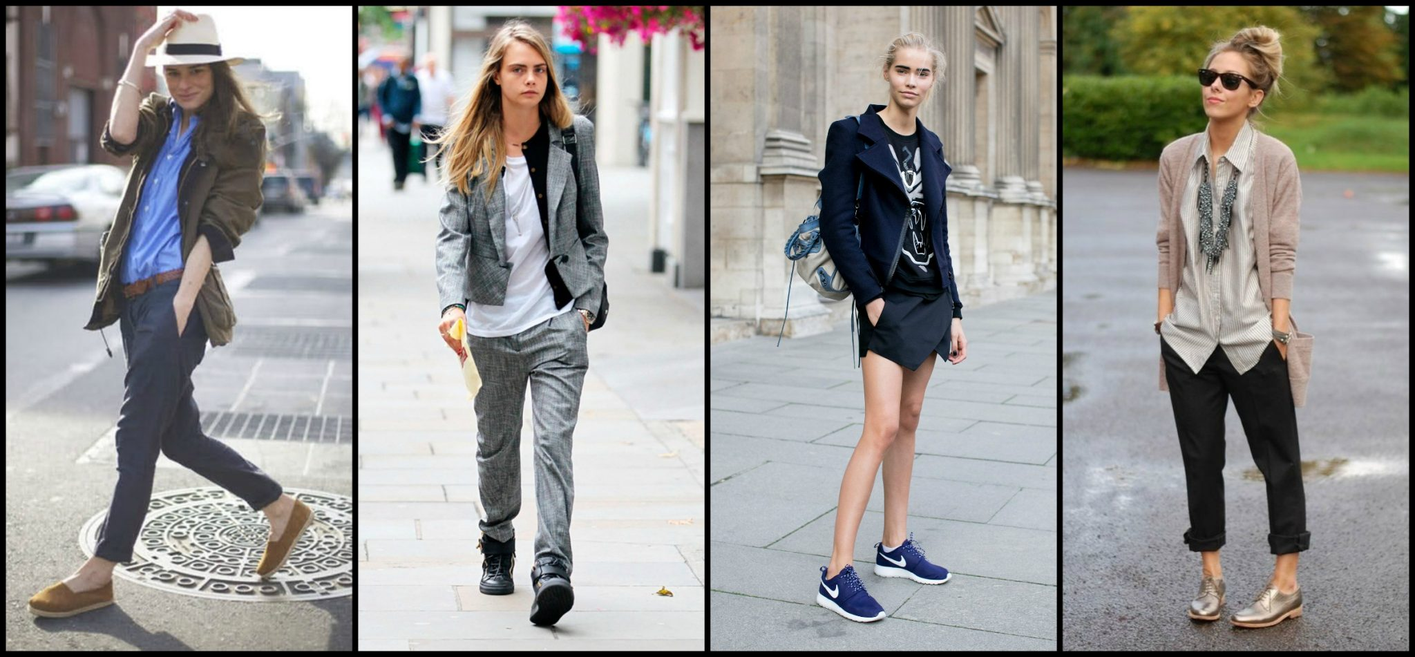 models sporting the tomboy look