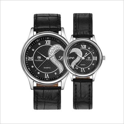 Leather Romantic Fashion Couple Wrist Watches
