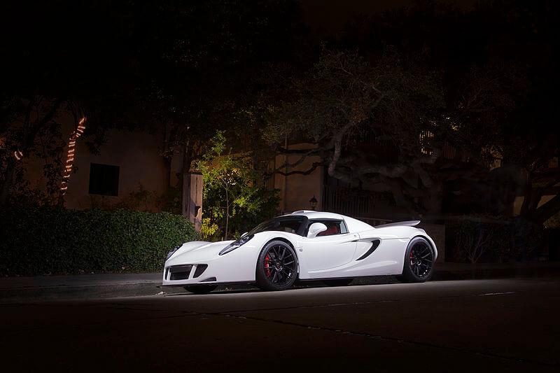 White Hennessey Venom GT