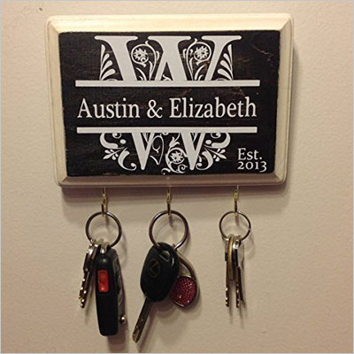 Personalized Wedding Gift- Monogram Key Holder