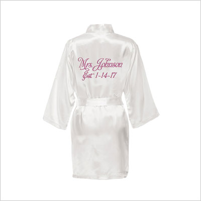 Personalized Mrs. Satin Bride Robe