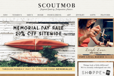 Scoutmob Landing Page sites like Groupon