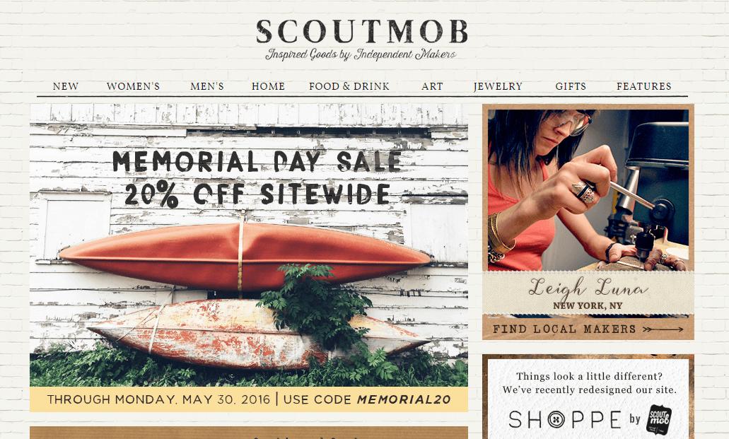 Scoutmob Landing Page sites like Groupon