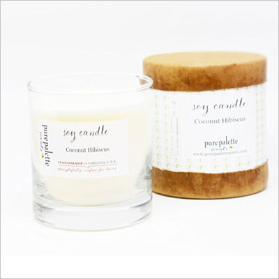 Coconut Hibiscus Scented Soy Candle