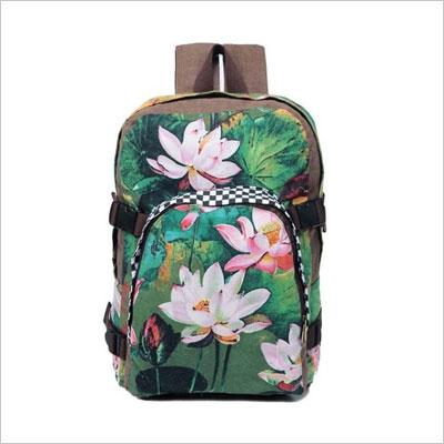 HPNOW KHB690187 Fashion Canvas Korean Version Women's Handbag,Shell Type Backpack