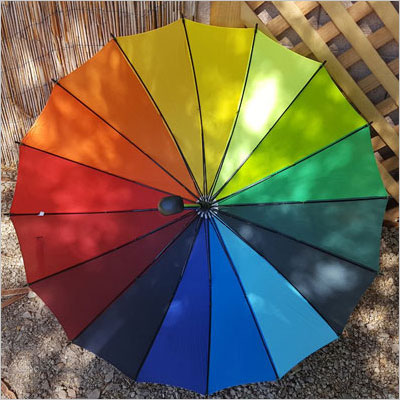Rainbow - Color Wheel Umbrella