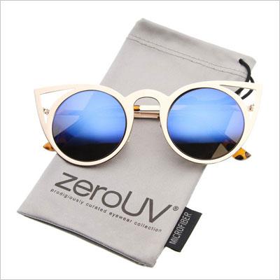 Round Metal Cat Eye Sunglasses