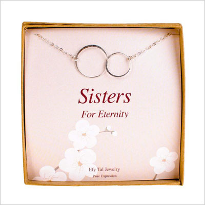 Sisters Necklace, Efy Tal Jewelry Sterling Silver Infinity Interlocking