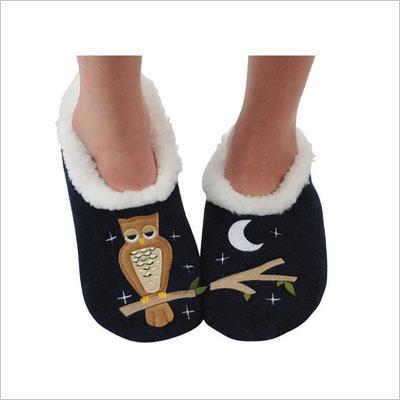 Splitz Applique Slipper Socks