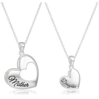 amazon collection heart pendant set
