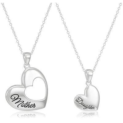 amazon collection heart pendant set