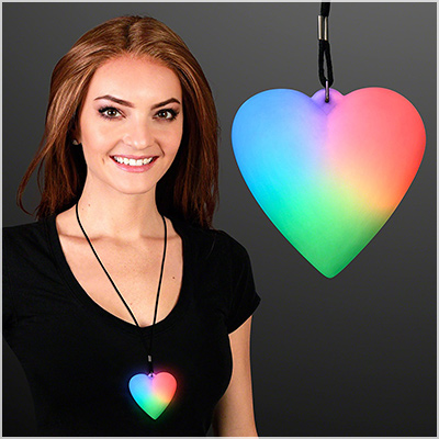 flashingblinkylights led necklace