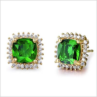 gulicx earrings simulated diamond