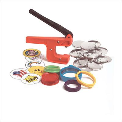 "Badge-A-Minit 1007 2 1/4"" Badge-A-Minit Button Machine Starter Kit"