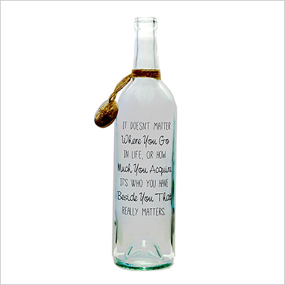 "Message In A Bottle ® ""CONTENT"" personalized gift"