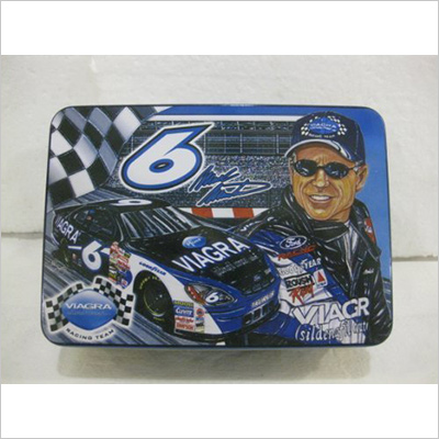 Tins Mark Martin #6 Viagra Nascar Rectangle Collectible Tin