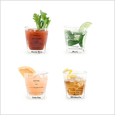 kikkerland bartending glass set