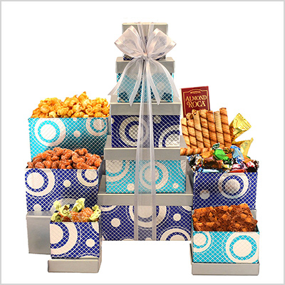 broadway basketeers gift tower