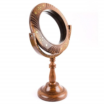 tabletop wooden mirror