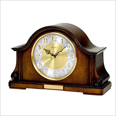 bulova wood clock