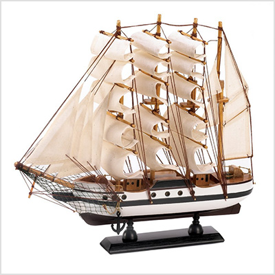gifts decor wooden ship