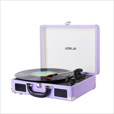 Great Gifts for Twenty Somethings JORLAI Vinyl Record Player