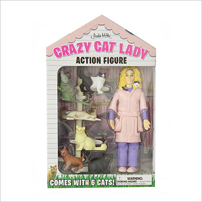 Accoutrements 12470 Crazy Cat Lady Action Figure Set