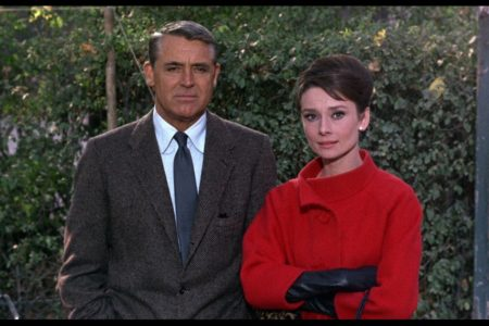 Cary Grant and Audrey Hepburn for a 1963 romantic movie