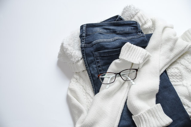 clothes and glasses