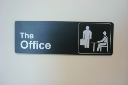The Office signage