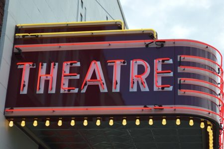 movie theatre sign